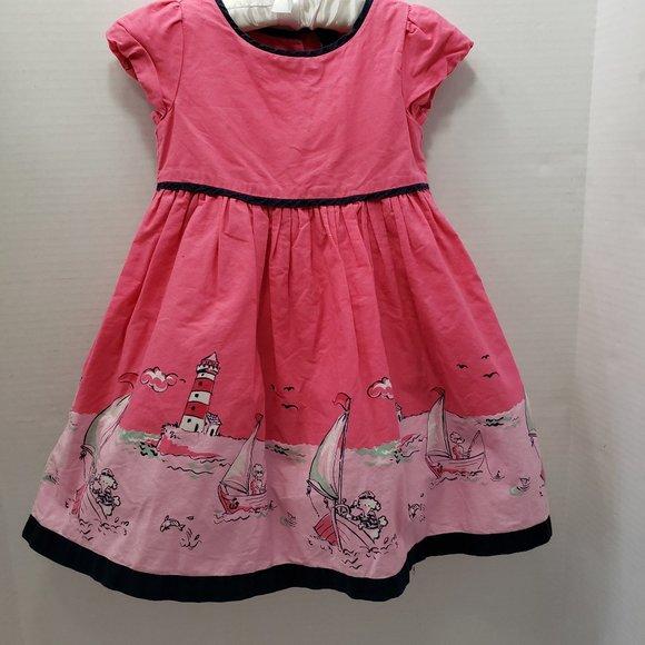 Pink Nautical Girls Toddler Dress 2 Years
